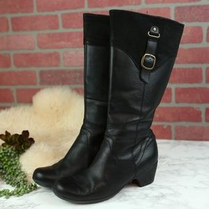 Clarks Black Knee High Boots Wide